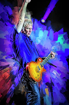 Royalty-Free and Rights-Managed Images - Alex Lifeson Rush Live by Mal Bray