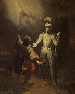 School Tote Bags Royalty Free Images - Alexandre u00c9variste Fragonard 1780 1850  Don Juan and the statue of the commander by Padre Martin Royalty-Free Image by Artistic Rifki