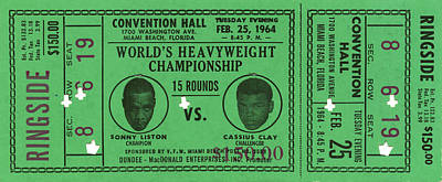 Royalty-Free and Rights-Managed Images - Ali - Liston Championship Fight Ticket by David Hinds