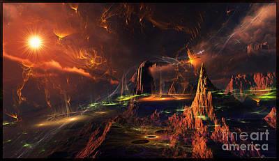Digital Art - Alien-Life-Circles - Digital Artwork  by Leonard Rubins