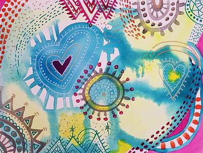 Painting - All About Love by Heather Shalhoub