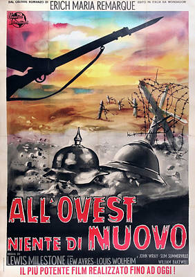 Royalty-Free and Rights-Managed Images - All Quiet on the Western Front poster 1930 by Stars on Art