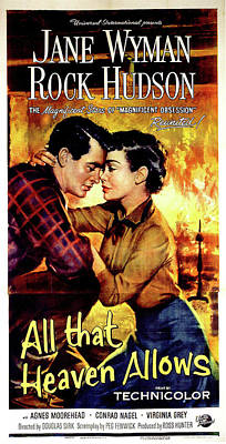 Mixed Media Royalty Free Images - All that Heaven Allows poster 1955 Royalty-Free Image by Stars on Art