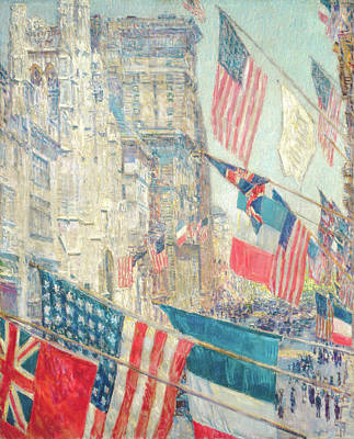 Catch Of The Day - Allies Day, May 1917 by Frederick Childe Hassam