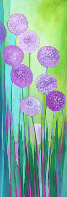 Pop Art Rights Managed Images - Alliums Royalty-Free Image by Jennifer Lommers