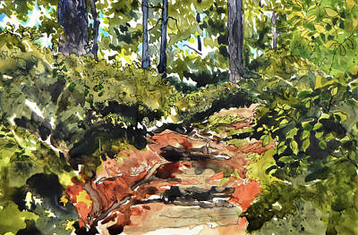 Painting - Along the Path by Brenda Jiral