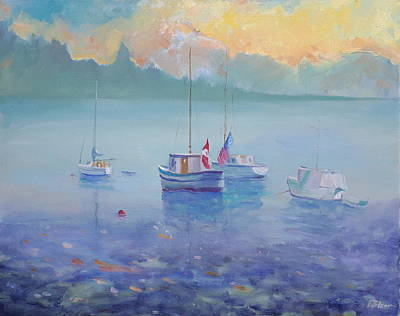Painting - Alongside by Ron Wilson