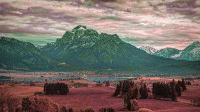 Surrealism Royalty-Free and Rights-Managed Images - Alpine Panorama - Surreal Art by Ahmet Asar by Celestial Images