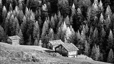 Sara Habecker Folk Print - Alpine village scene by Alexey Stiop