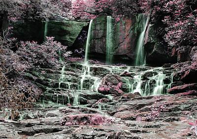 Surrealism Royalty Free Images - Alpine Waterfall 11 - Surreal Art by Ahmet Asar Royalty-Free Image by Celestial Images
