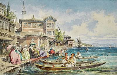 Lucille Ball - Amadeo Preziosi 1816 - 1882   KABATAS, BEYOLU, THE MOLLA CELEBI MOSQUE BEYOND by Artistic Rifki