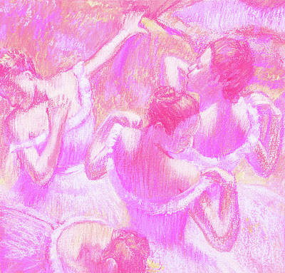 Royalty-Free and Rights-Managed Images - Amazing Ballerinas Degas Study Fantasy In Pink  by Irina Sztukowski