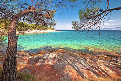 Owls - Amazing turquoise stone beach on Brac island view by Brch Photography