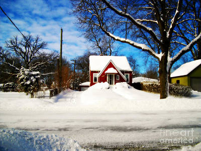 Frank J Casella Royalty-Free and Rights-Managed Images - America Heartland Winter Beauty by Frank J Casella