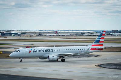 American West - American Airlines N965UW Hartsfield-Jackson Atlanta International Airport Art by Reid Callaway