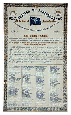 Drawings Royalty Free Images - American Civil War South Carolina Declaration of Secession 1860 Royalty-Free Image by Peter Ogden Gallery