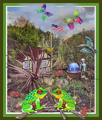 Mixed Media Royalty Free Images - American  Dream Royalty-Free Image by Hartmut Jager