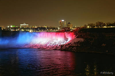 Amy Weiss - American Falls Lighting Before Kobe Tribute by Phill Doherty