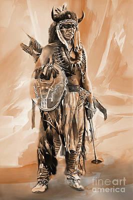Pop Art - American Indian 0022 by Gull G