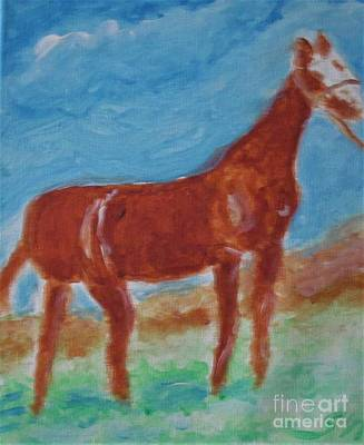 Animals Royalty-Free and Rights-Managed Images - American Quarter Horse by Stanley Morganstein