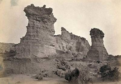 Firefighter Patents Royalty Free Images - American West in pictures 1860s 1870s  Rock formations in the Washakie Badlands Wyoming in 1872 A su Royalty-Free Image by Artistic Rifki