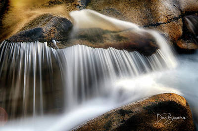 Dan Beauvais Royalty-Free and Rights-Managed Images - Ammonoosuc Cascade 4456 by Dan Beauvais