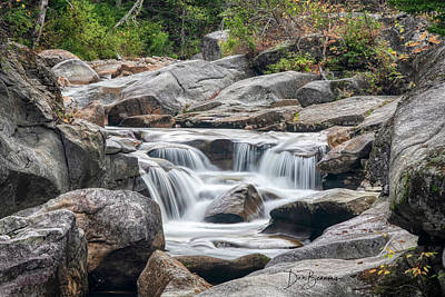 Dan Beauvais Royalty-Free and Rights-Managed Images - Ammonoosuc Cascade 4513 by Dan Beauvais