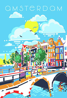 Royalty-Free and Rights-Managed Images - Amsterdam City Modern by Bekim M