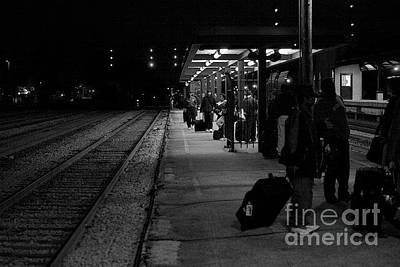 Frank J Casella Royalty-Free and Rights-Managed Images - Amtrack Train Station by Frank J Casella