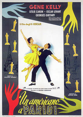 Royalty-Free and Rights-Managed Images - An American in Paris, with Gene Kelly and Leslie Caron, 1951 by Stars on Art