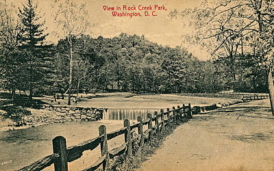 Sean - An early 1900s view of Rock Creek Park showing the Teahouse Dam and Beach Drive by Artistic Rifki