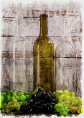 Lori A Cash Royalty-Free and Rights-Managed Images - An Echo of Wine Digital Wine Art by Lori A Cash