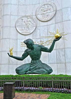 Science Collection - An Iconic Detroit Statue by Frozen in Time Fine Art Photography