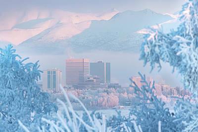 Photograph - Anchorage, Alaska Winterscape by Scott Slone