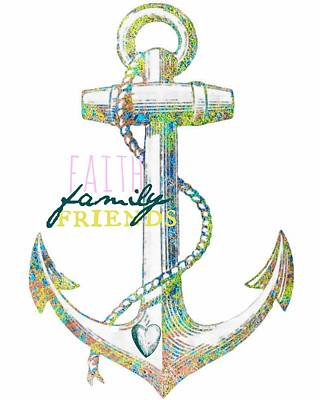 Curated Travel Chargers - Anchored in Faith Family and Friends by Brandi Fitzgerald