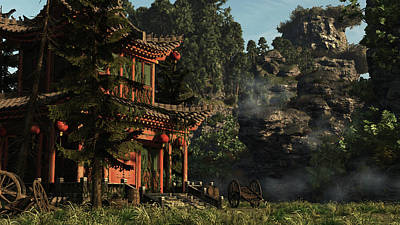 Nautical Animals - Ancient Chinese Temple by Arthur Dorety