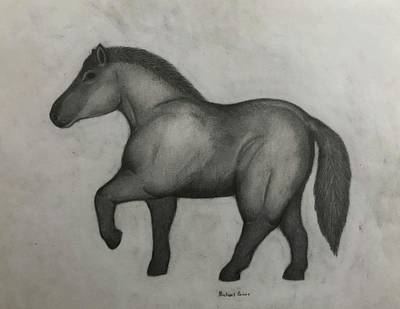 Drawings Royalty Free Images - Ancient Horse Royalty-Free Image by Michael Panno