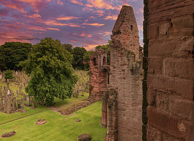 Superhero Ice Pops - Ancient Ruins of Arbroath Abbey at Sunset in Scotland by Jim McDowall