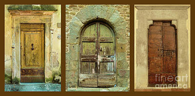 Anchor Down - Ancient Tuscan Doors by Norma Brandsberg