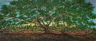 Painting - Angel Oak Tree by Jeleata Nicole