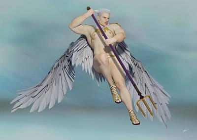 Angels And Cherubs - Angel Saint George by Joaquin Abella