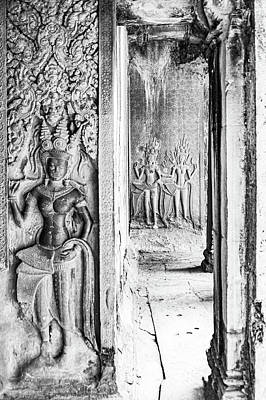 Abstract Trees Mandy Budan - Angkor Bas Reliefs by Rob Hemphill