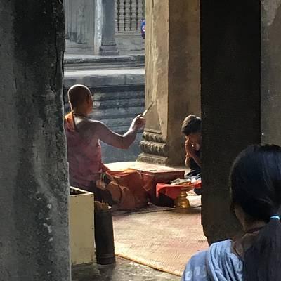 Peacock Feathers - Angkor Wat by Joel Zimmerman