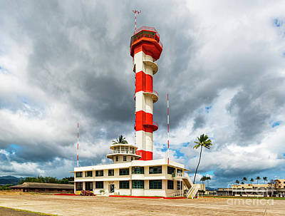 Winter Animals - Angled View of Ford Island Control Tower Pearl Harbor by Phillip Espinasse