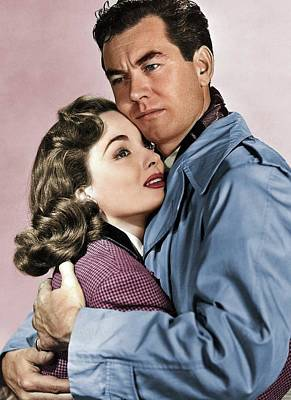 Mans Best Friend - Ann Blyth and Philip Friend by Stars on Art
