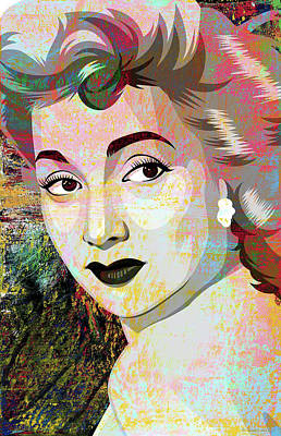 Pop Art Rights Managed Images - Ann Sothern Royalty-Free Image by Stars on Art