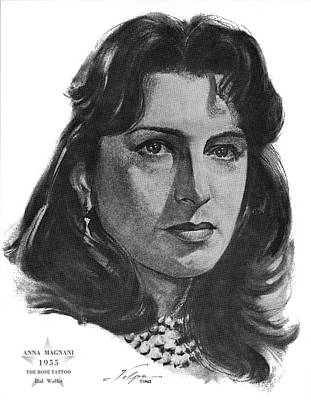 Drawings Royalty Free Images - Anna Magnani 1955 Royalty-Free Image by Stars on Art