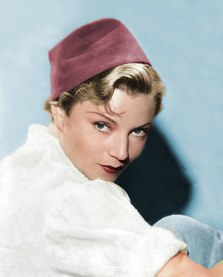 Katharine Hepburn - Annabella colorized by Stars on Art