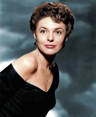 Katharine Hepburn - Anne Bancroft colorized by Stars on Art