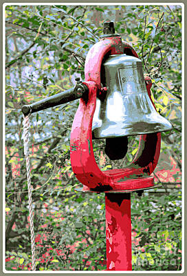 Still Life Royalty-Free and Rights-Managed Images - Antique Bell and Pull by Diann Fisher